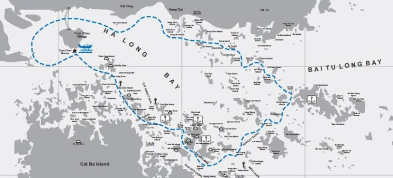 Baie de Halong en hydravion