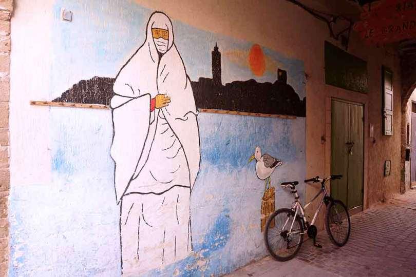 Essaouira - Médina - Mur peint