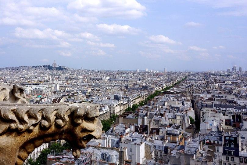 Paris - Vue Nord-Ouest de la tour Saint Jacque