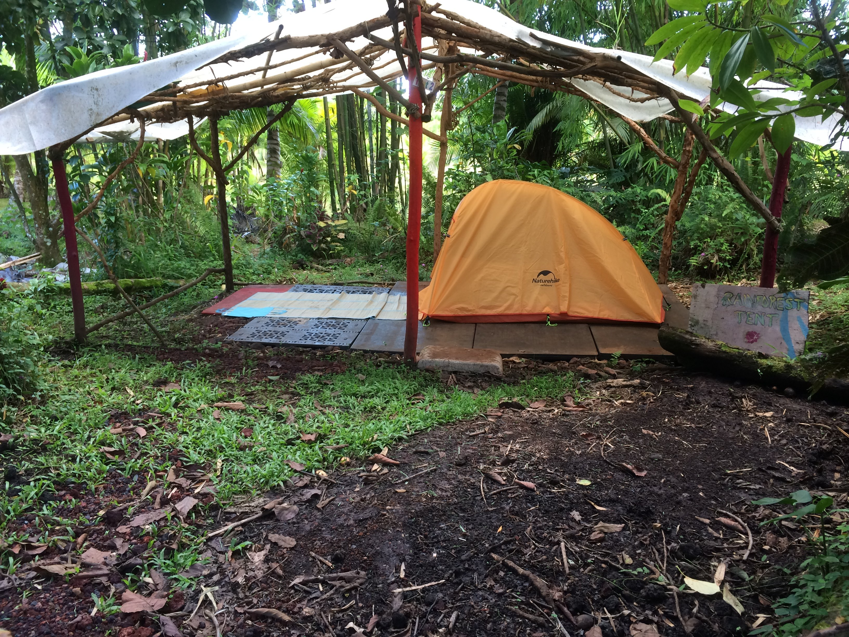 Rainforest C&ing Private Tent & Hedonisia Hawaii Campground: Private Camping in Hawaii