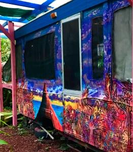 dorm hawaii volunteer intern eco lodging mural