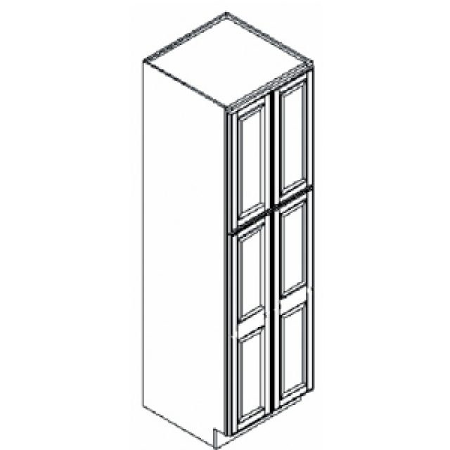Arcadia White Kitchen Pantry Cabinet 24 W X 24 D X 84 H Heeby S Surplus Inc