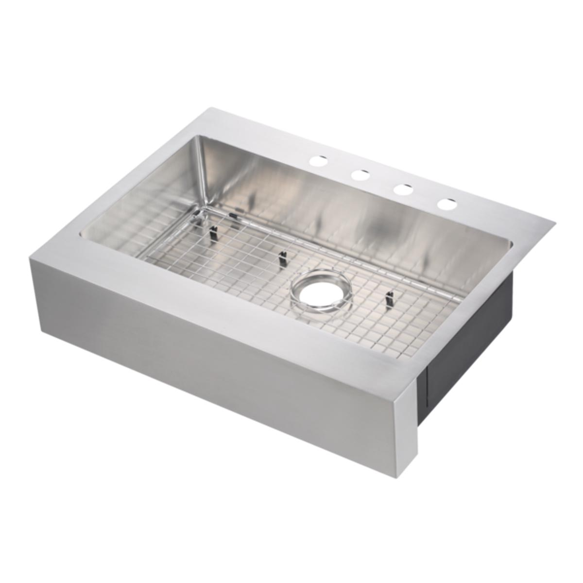 33 x 24 stainless steel farm sink flat apron front
