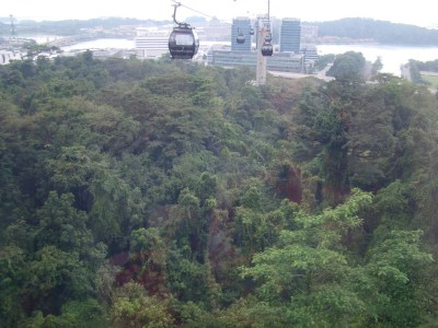 High Up in the Singapore Cable Car