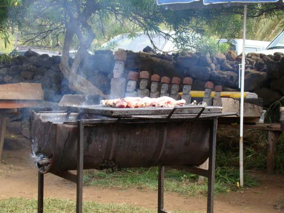 Empanadas food stall anakena beach easter island