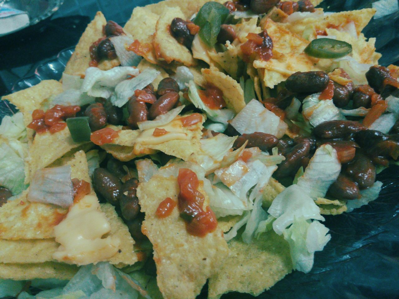 Warm Nacho Salad with Salsa