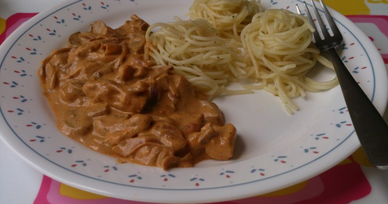 Chicken Stroganoff with Parsley Pasta