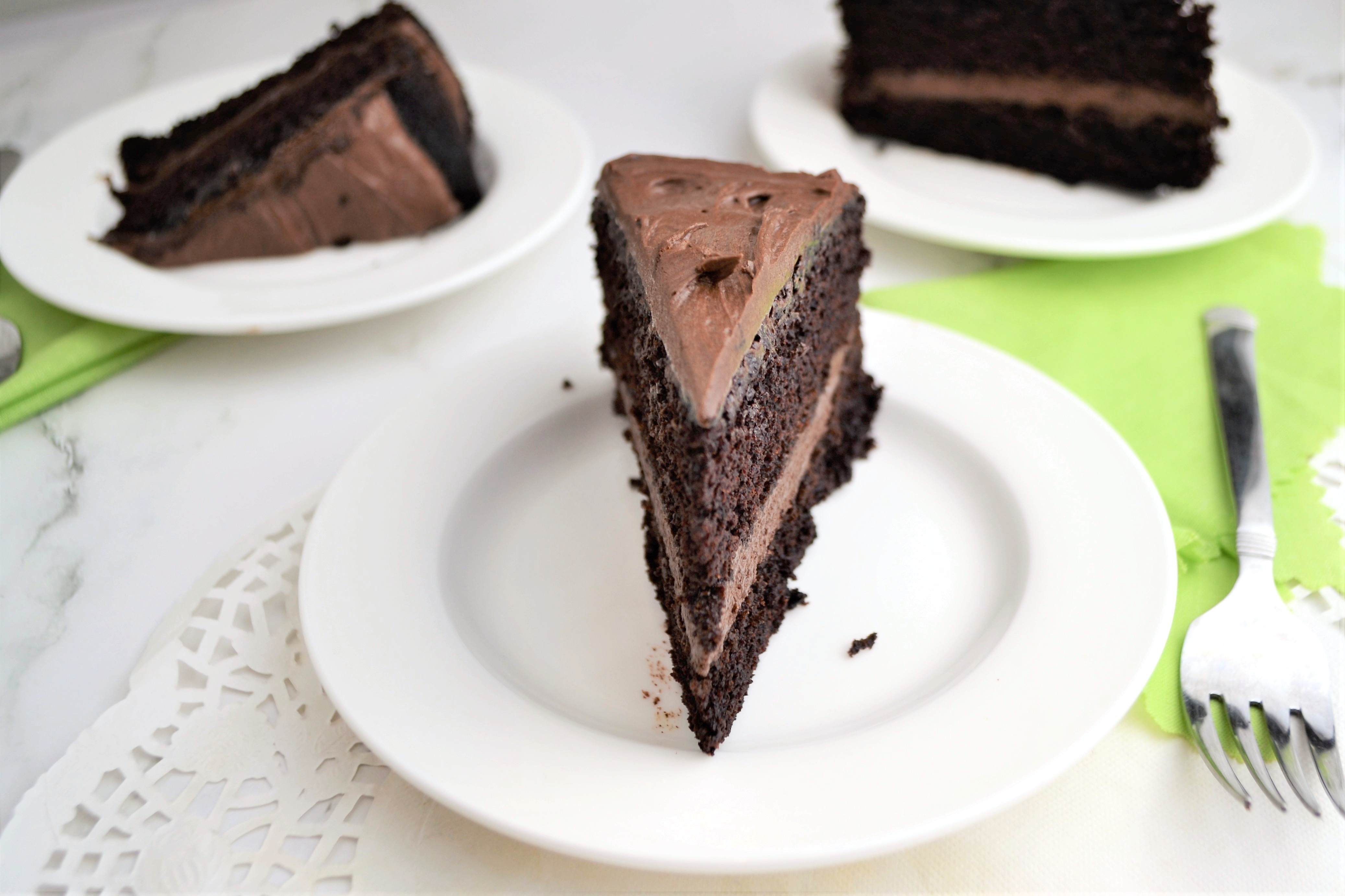 Gluten Free Chocolate Cake with Chocolate Frosting