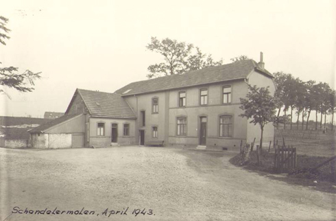 Bron: Rijckheyt.nl | Schandelermolenweg (april 1943). De Schandelermolen.