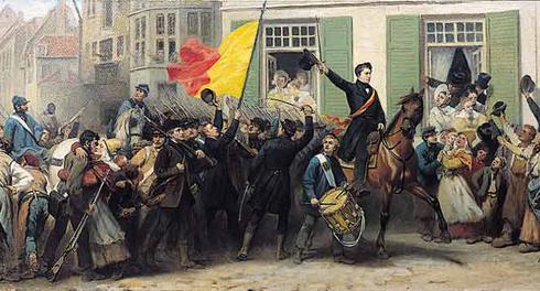 In blauwe kielen gingen de opstandelingen richting Brussel of ze bevrijdden de zuidelijke steden. Maastricht werd omsingeld.