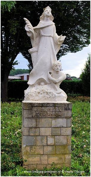 Bron: Limburgsemijnen.nl   Sint Barbarabeeld Hoek Laurentiusplein-Tenelenweg Voerendaal