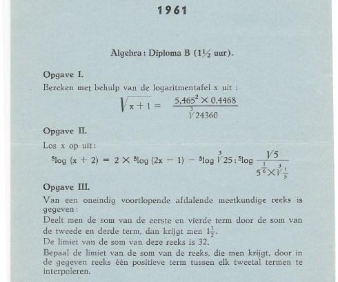 Bron: Privé collectie Mulo examen