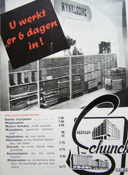 Bron: Nederlands Mijnmuseum | Reclame Schunck