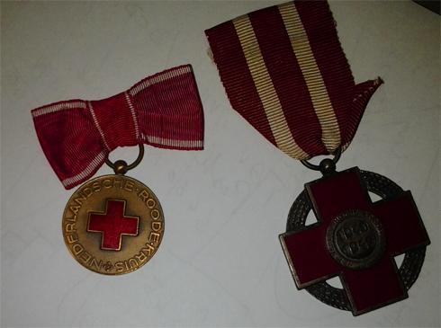 Bron: Privécollectie: Onderscheidingen van het Rode kruis