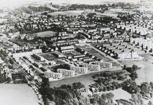 Bron: Rijckheyt.nl | Luchtfoto van het Aarveld en Bekkerveld (1959)