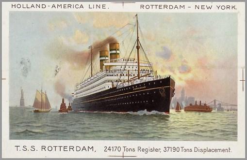 Bron: Het Geheugen van Nederland |   Holland-Amerika Lijn (Rotterdam, Koninklijke Hollandsche Lloyd (Amsterdam)