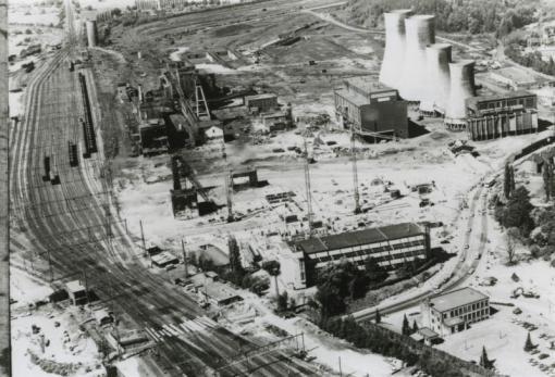 Bron: Rijckheyt.nl | Luchtfoto van de afbraak van de Oranje-Nassaumijn 1976