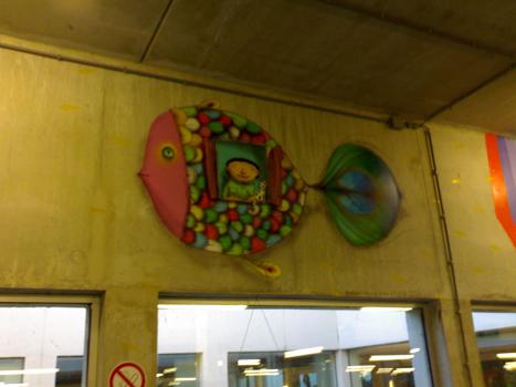 Bron: Heerlen Vertelt | Os Gêmeos schildering in Atrium MC