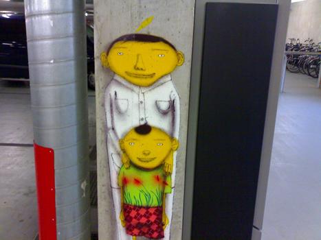 Bron: Heerlen Vertelt   Os Gêmeos schildering in Atrium MC