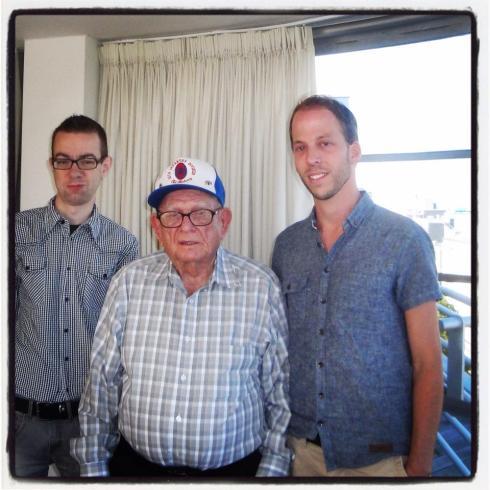 V.l.n.r. Maurice van Opdorp, Mr Sanford, Frank van Opdorp