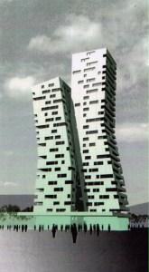 Lange Jan en Lange Lies, Zuidgevel, Francine Houben Mecanoo Architecten, 2003