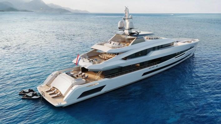 Project update: YN 20457 Project Akira, 57-metre full-aluminium FDHF - Heesen Yachts