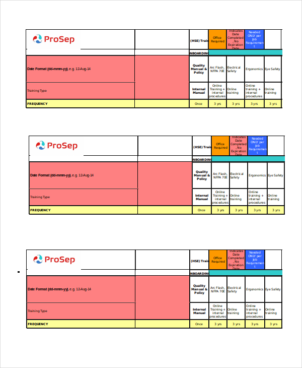 6 Amazing Employee Training Matrix Template Excel And How To