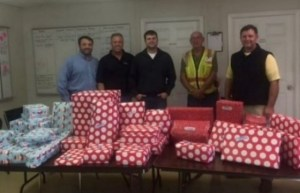 Jeff and Balfour Beatty Gift Wrap for SFHS families