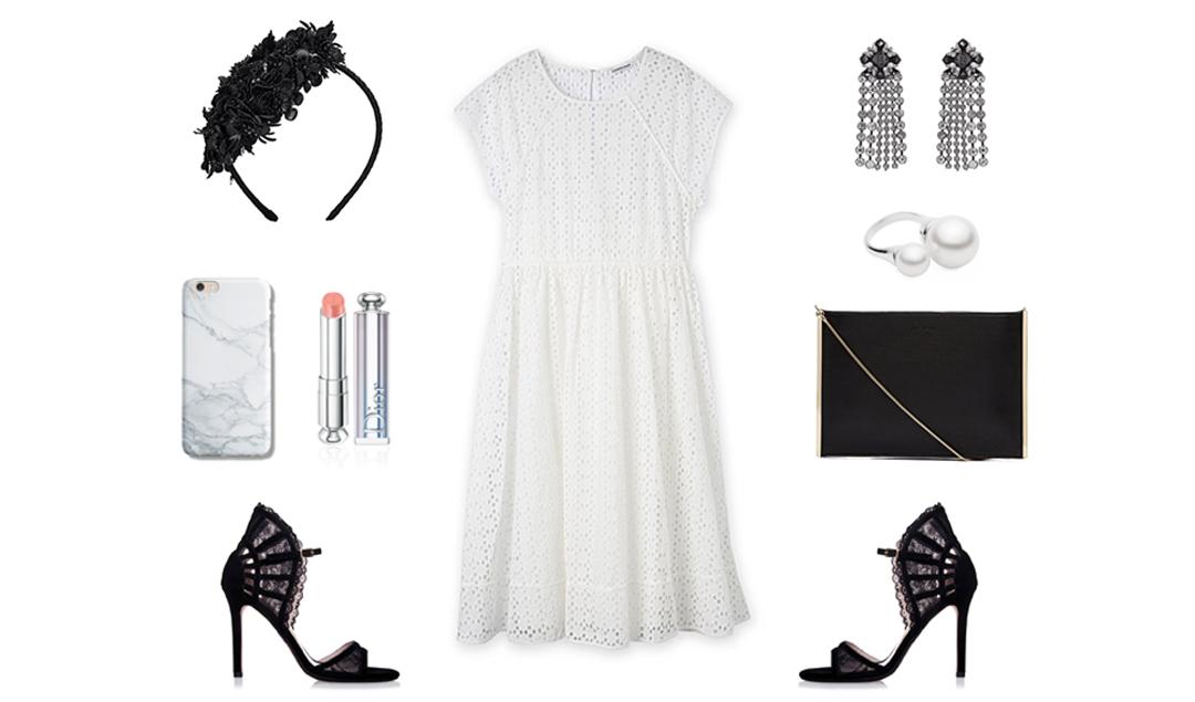 Broderie dress for Spring carnival