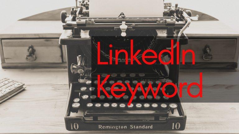 Keyword del profilo linkedin
