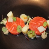 """Room81""green tea smoked ocean trout"