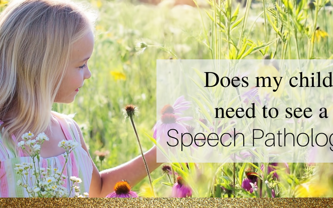 Does my child need to see a Speech Pathologist?
