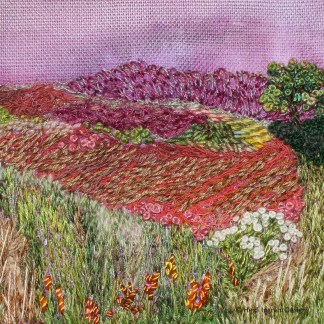 Autumn Landscape embroidery