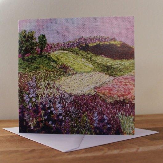 Purple landscape card