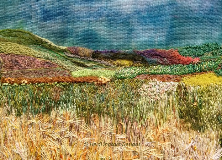 West Mains farm, embroidery