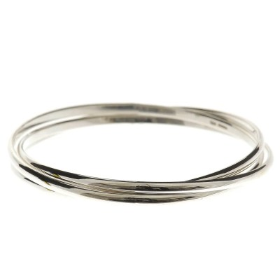 Heidi Kjeldsen Stylish Sterling Silver Russian Wedding Ring Style Handmade Bangle BL069