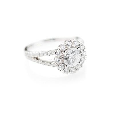 Heidi Kjeldsen Luxurious Diamond Cluster Engagement Ring R1107