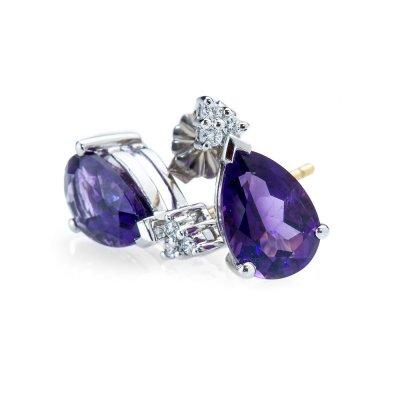 Heidi Kjeldsen Seductive Amethyst and Diamond Drop Earrings ER1673