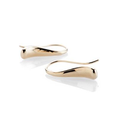 Heidi Kjeldsen Elegant Solid Gold Handmade Teardrop Earrings - ER2053-1