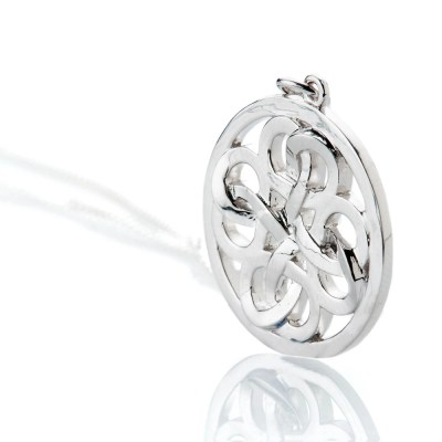 Heidi Kjeldsen Stylish Sterling Silver Viking Love Knot Large Pendant - P1230-2