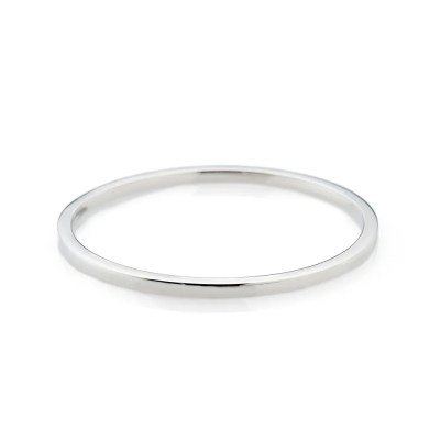 Stylish Solid Sterling Silver Handforged Plain Bangle - Heidi Kjeldsen Jewellery - BL1269-1