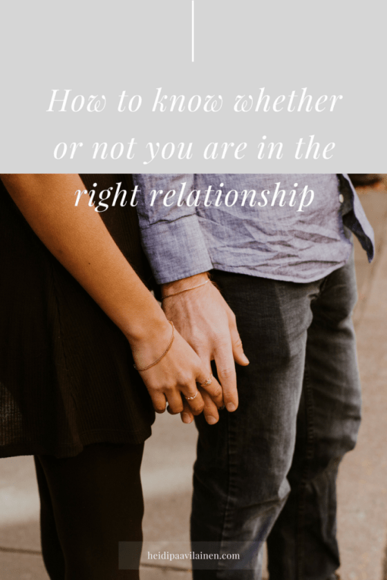How to know whether or not you are in the right relationship, and be more guided by the wisdom inside. Sometimes in life we find ourselves at a crossroads. We don't know if we should stay with this person or move on. In this post I'll share with you how can we be more guided by the wisdom inside, so that it becomes easier for us to make right decisions and have good relationships more effortlessly — Click through to read the post.