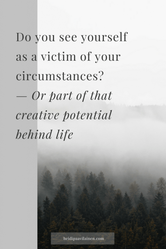 Do you see yourself as a victim of your circumstances or part of that creative potential behind life | Spiritual guidance | 3 Principles | Unconditionallove | Spiritual healing |