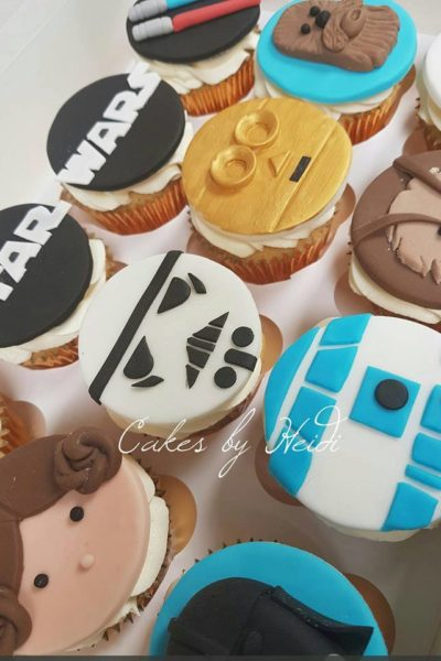 Star wars fondant topped cupcakes