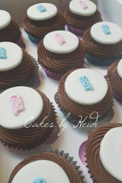 Boy or Girl Choc Swirl Cupcakes