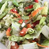 Vegetable Salad with Italian Basil Dressing