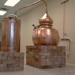 The still in Dancing Pines Distillery in Loveland, Colorado