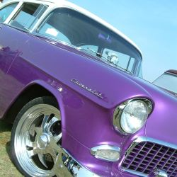 1955 Chevy purple