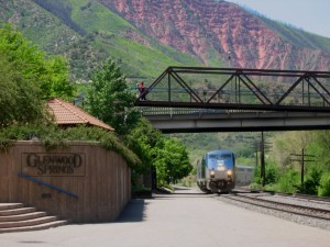 Amtrak coming into Glenwood Springs