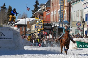 Skijoring in Leadville at Crystal Carnival